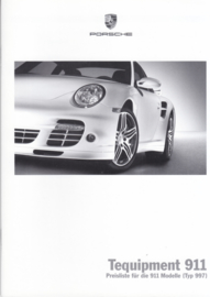 911 Tequipment (997) pricelist brochure, 52 pages, 05/2007, German