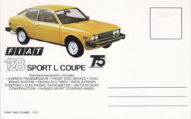 128 Sport L Coupe, standard size, US postcard (# 7542)