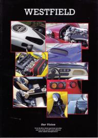 Westfield Sportscar leaflet, 2 pages, about 2009, Dutch language