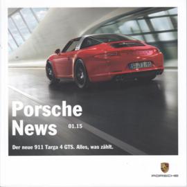 News 01/2015 with 911 Targa 4 GTS, 46 pages, 03/2015, German language