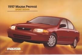 Protegé Sport Sedan, 1997, US postcard, A5-size