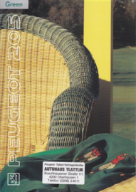 205 Green brochure, 8 pages, A4-size, about 1991, German language