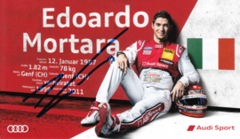 Racing driver Edoardo Mortara, signed postcard 2015 season, German language