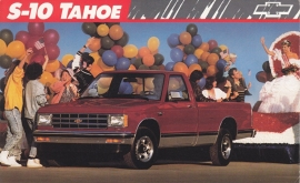 S-10 Tahoe Pickup,  US postcard, large size, 19 x 11,75 cm, 1989