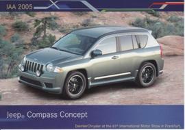 Jeep Compass Concept, A6-size postcard, IAA 2005