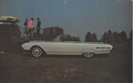 Thunderbird Convertible, US postcard, standard size, 1963, # 56323-B