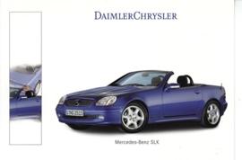 Mercedes-Benz SLK Cabriolet, A6-size postcard, Geneva 2000 French