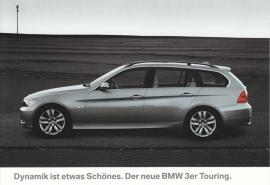 3-series Touring (325i), large size postcard, 18 x 12,5 cm, German