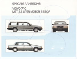 740/GL 2.3 liter (B230F) leaflet, 2 pages, 1990, Dutch language