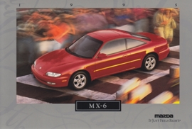 MX-6 Sports Coupe, 1995, US postcard, A5-size