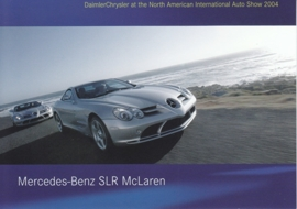 Mercedes-Benz SLR McLaren, A6-size postcard, NAIAS 2004