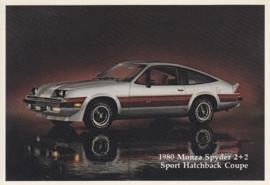 Monza Spyder 2+2 Sport Hatchback Coupe,  US postcard, standard size, 1980