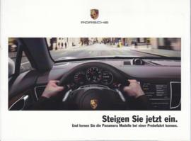 Panamera test drive brochure, 12 pages, 05/2011, German language