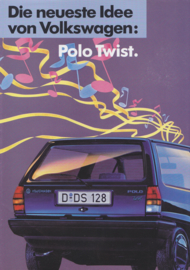 Polo Twist brochure, A4-size, 4 pages, German language,  about 1987
