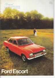 Escort brochure, 20 pages, 8/1973, Dutch language