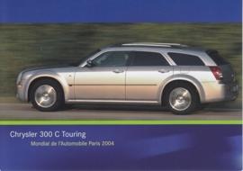Chrysler 300 C Touring, A6-size postcard, Paris 2004