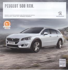 508 RXH pricelist brochure, 12 pages, German language, 03/2017