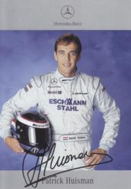 Patrick Huisman - DTM 2001 - auto gram postcard, German