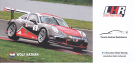 911 Carrera Cup with driver Wolf Nathan, oblong postcard, issued about 2016