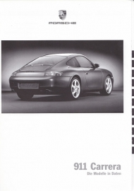 911 Carrera pricelist, 54 pages, 08/1999, German
