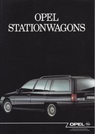 Stationwagons (Kadet & Omega) brochure, 20 pages, 05/1989, Dutch language