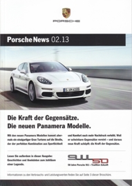 News 02/2013 with Panamera Modelle, 56 pages, 07/13, German language