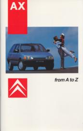 AZ (A to Z) brochure, 36 pages, 8/1986, English language