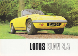 Elan series 4 DHC/FHC brochure, 8 pages, DIN A4-size, c1969, factory-issued, English language