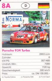 934 Turbo - card 8A - size 9 x 6 cm, German language