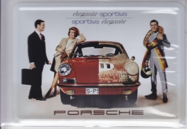 Porsche  911 Sportiva Elegante first series, metal postcard with white envelope, factory-issued