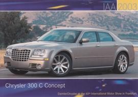 Chrysler 300 C Concept, A6-size postcard, IAA 2003