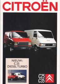 C25/C35 Vans brochure, 20 pages, 1989, Dutch language