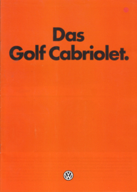 Golf Cabriolet brochure, A4-size, 16 pages, German language, 01/1984