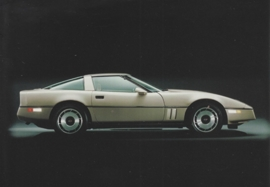 Corvette Collectors Edition Coupe 1982, A6 size postcard, 100 years of Chevrolet by GM Europe, 2011