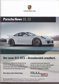 News 01/2013 with 911 GT3, 38 pages, 04/13, German language
