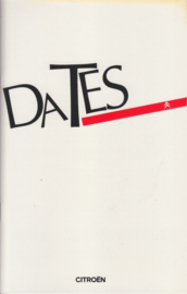 Dates (History of the brand) brochure, 40 pages, 1986, English language