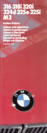 3-Series Colours & Upholstery brochure, 14 pages, half  A4-size, 2/1985, 7 languages