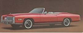 1976 Fleetwood Eldorado Convertible, US fold-over postcard, 18,5 x 8,5 cm (closed)