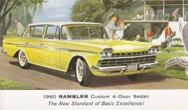 Custom 4-Door Sedan, US postcard, standard size, 1960, # AM-60-8037F