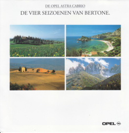 Astra Cabriolet 4 seasons by Bertone brochure, 12 pages, 01/1997, Dutch language