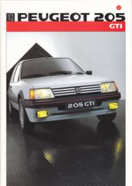 205 GTi brochure, 16 pages, A4-size, 1986, German language