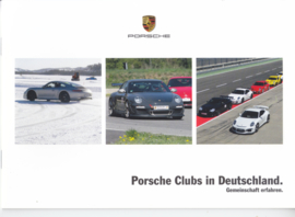Porsche Clubs brochure, 12 pages, 09/2015, German
