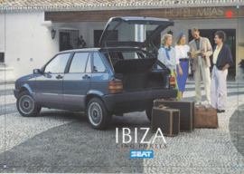 Ibiza 5-Door brochure, 8 pages, French language, 1987