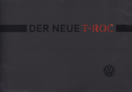 T-Roc intro brochure, A4-size, 24 pages, 10/2017, German language