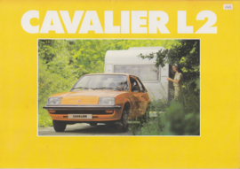 Cavalier Sedan L2, 6 pages, Dutch language, about 1979