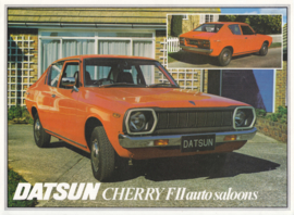 Cherry FII auto saloon leaflet, 2 pages, UK, English language, 1978