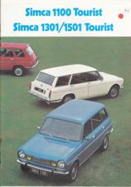 1100/1301/1501 Tourist, 12 pages, 9/1974, Dutch language