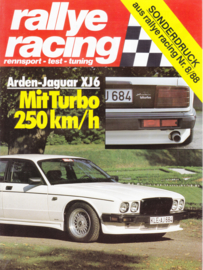 XJ 6 tuned by Arden, Rallye Racing magazine reprint, 4 pages, 08/1988,  German language
