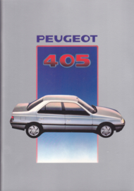 405 Sedan brochure, 46 pages, A4-size, 9/1987, Dutch language