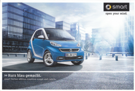 Fortwo Edition Iceshine brochure,  6 pages, 07/2012, German language